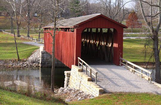 Cataract covered bridge