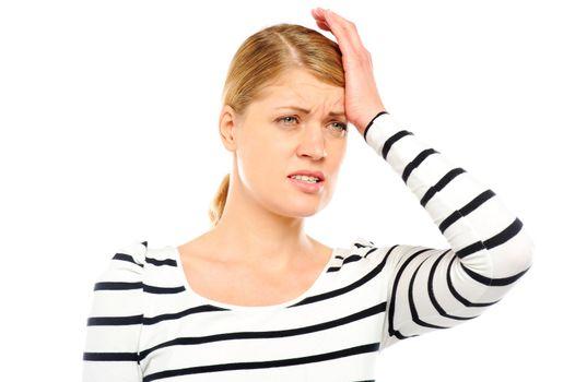 Teenager having headache