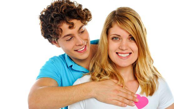 Portrait of smiling playful couple