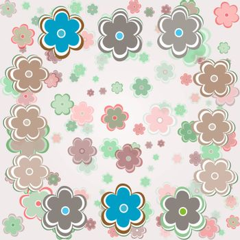 vector vintage background with flowers. vector seamless background