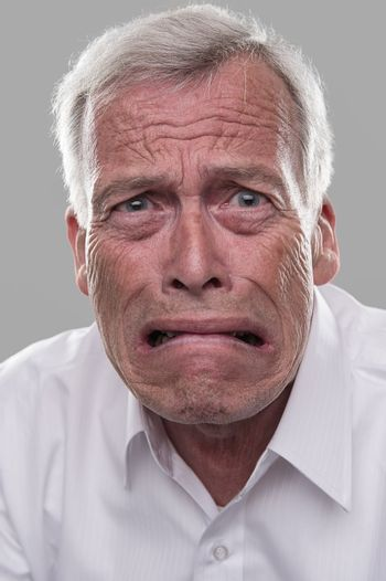 Frightened old man