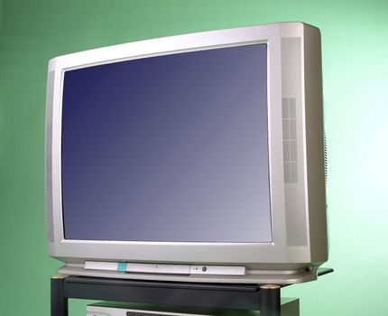 Front view of retro TV.