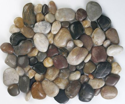 A pile of colourful rocks.