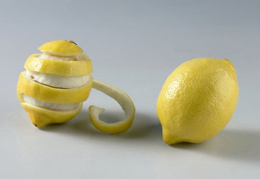 Two lemons on the background.
