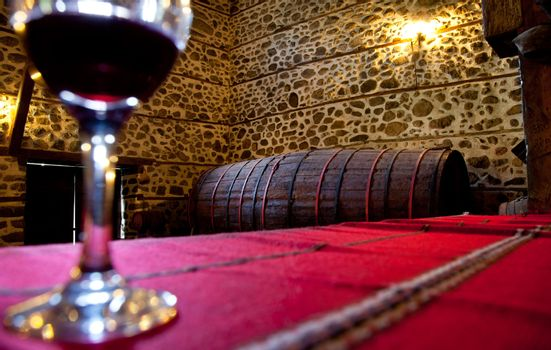 Wine barrel cellar