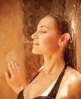 Woman take shower