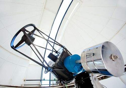 Astronomic observatory telescope in a dome