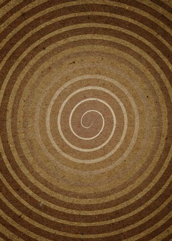 High resolution Spiral on the Paper. Computer generated