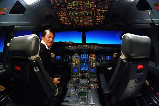 pilot and flight deck cockpit