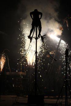 SANTA MARIA DA FEIRA, PORTUGAL - MAY 25: pan.optikum (GER) during the Imaginarius event on May 25, 2012 in Santa Maria da Feira, Portugal.
