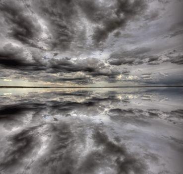 Saskatchewan Lake Reflection
