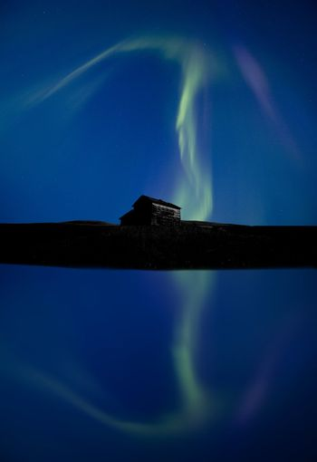 Northern Lights and reflection