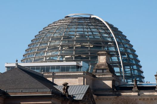 Dome on top of the Reichstag building