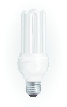 Energy saving light bulb. Vector illustration EPS10.
