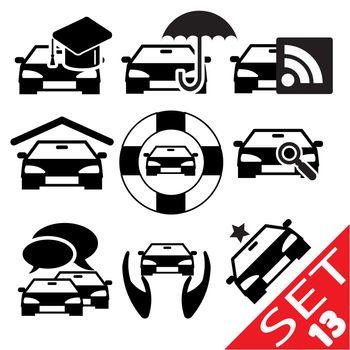 Car part icon set 13. Vector Illustration EPS8.