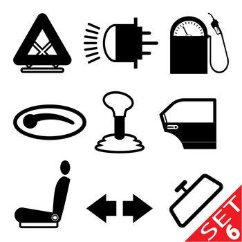 Car part icon set 6. Vector Illustration EPS8.