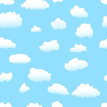 Seamless vector background: sky & clouds wallpaper