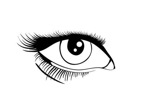 Beautiful female eye. Vector illustration EPS8