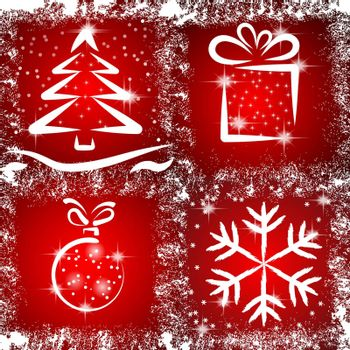 Vector icons with a Christmas theme.