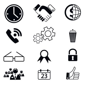vector business icons set 10
