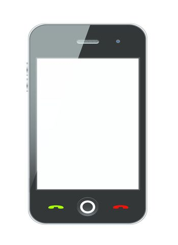 Vector stylish Smartphone with isolated background. Vector Illustration.