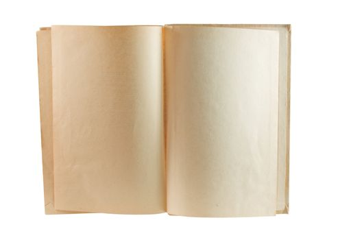 Old Book Showing Two Blank Pages