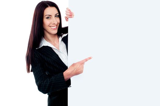 Female representative of a company