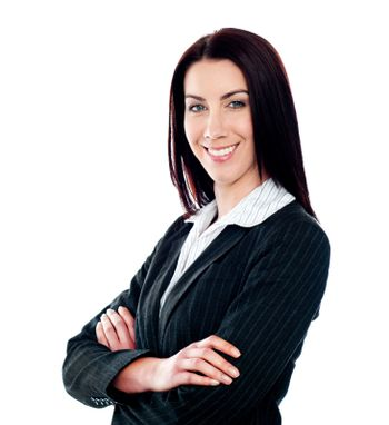 Businesswoman posing with crossed arms
