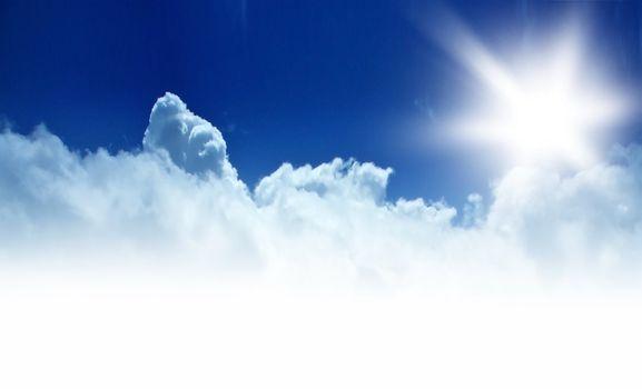 Blue sky background border