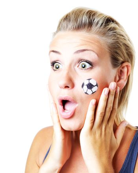 Surprised football fan