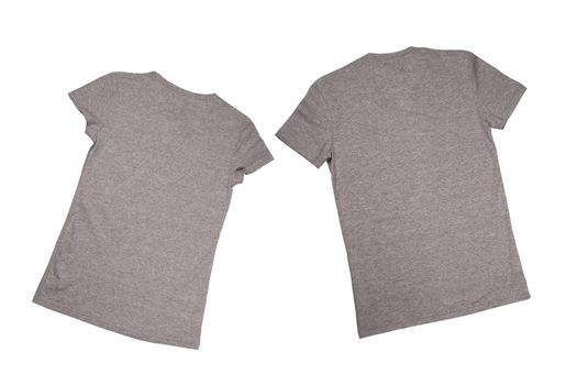 two grey t-shirts