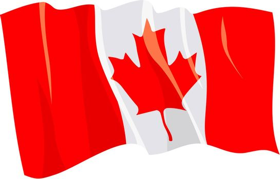 Political waving flag of Canada
