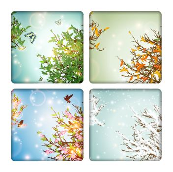 Four Seasons: spring, summer, autumn and winter