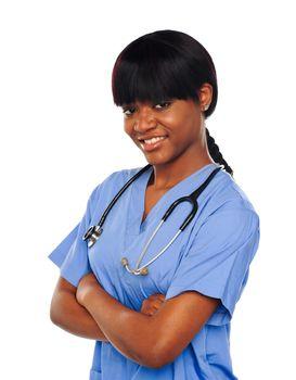 Female surgeon with stethoscope