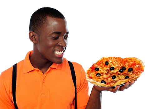 Hey lets enjoy some yummy pizza