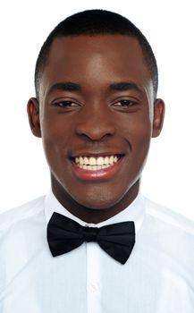 Closeup portrait of handsome african guy