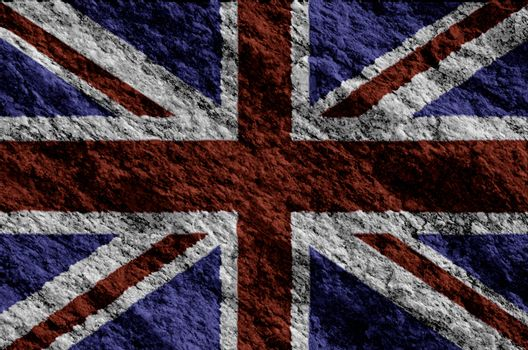 United Kingdom Flag  grunge flag texture background.