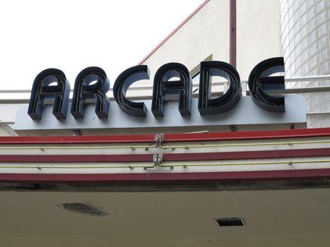 Art Deco architecture of Arcade at Glen Echo