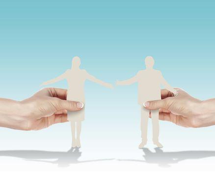 Symbol of successful partnership
