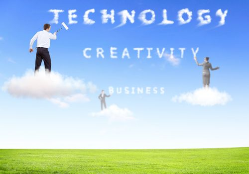 Collage on business theme