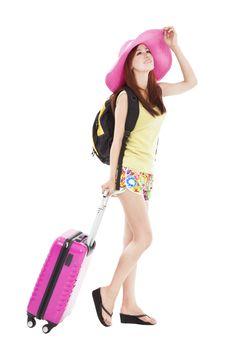 young woman enjoy summer vacation
