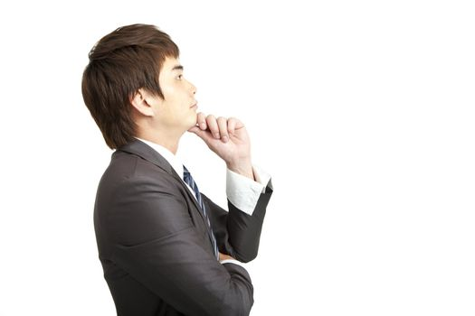 young businessman with thinking