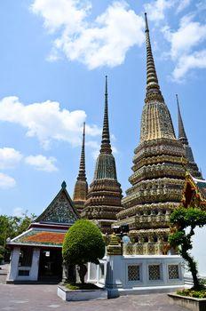 Ancient Pagoda or Chedi at Wat Pho, Thailand.