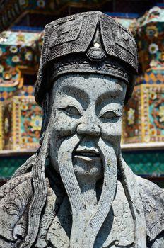 stone Statue in Wat Pho, Bangkok, Thailand.
