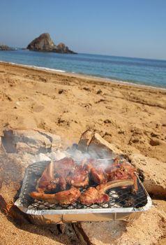 BBQ Ribs on the beach
