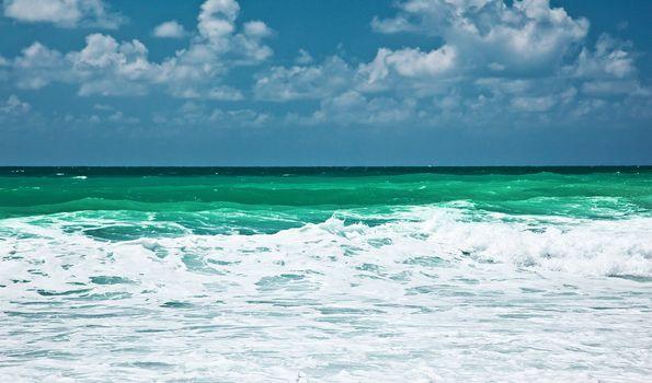 Panoramic sea landscape