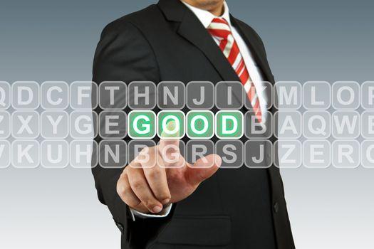 Businesssman push good