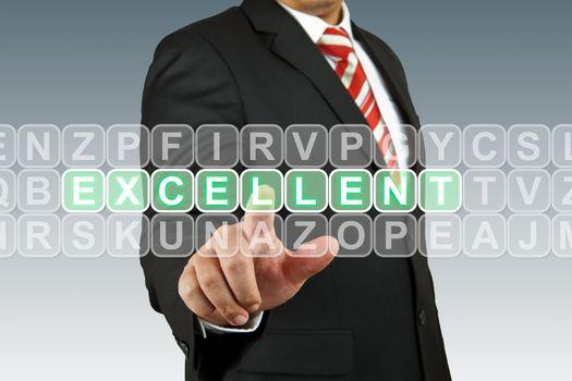 Businesssman push excellent