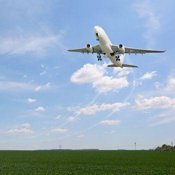 Passenger aircraft taking off