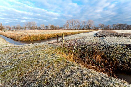 typical Dutch winter landscape